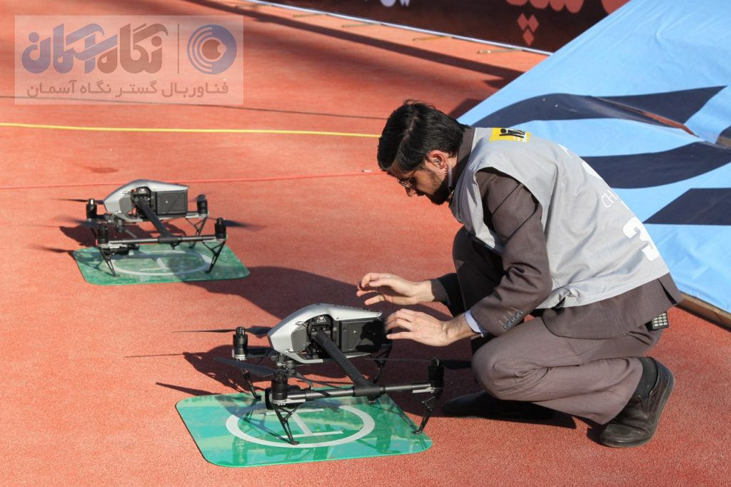 خدمات تصویربرداری هوایی زنده هلی شات استادیوم آزادی دربی مسابقه فوتبال استقلال و پرسپولیس