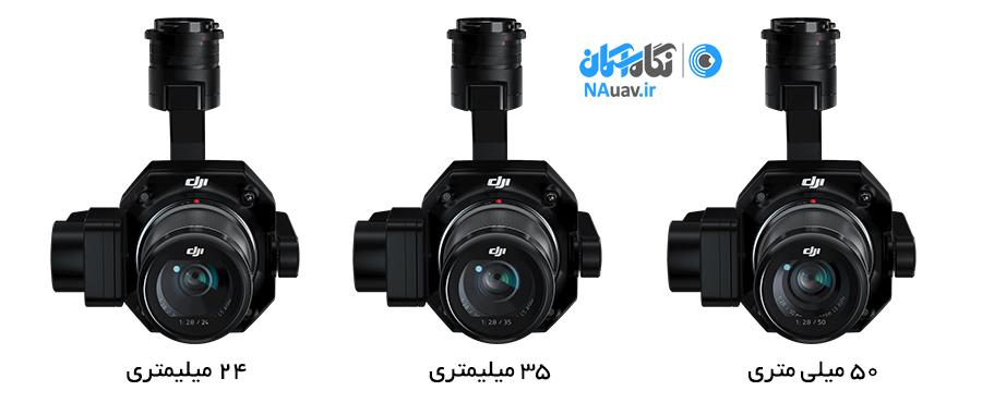 انواع لنزهای دوربین Zenmuse P1 برای فتوگرامتری